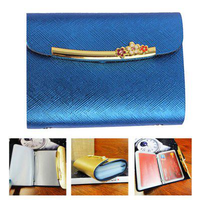 Stylish Taiga Leather Wallet Hasp Closure Card Holder for Men Women