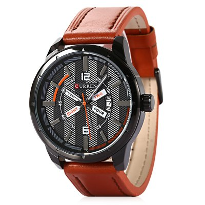 CURREN 8211 Casual Double Scales Men Quartz Watch