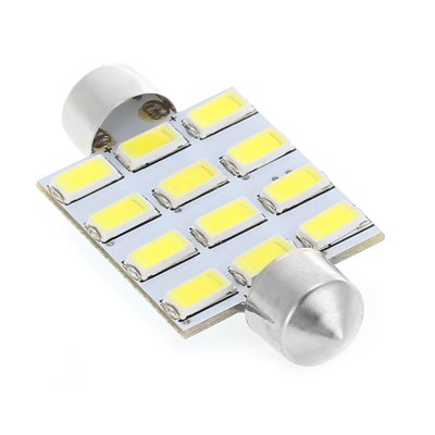 Festoon 12 SMD 5630 LED Car Lamp 12V 7W 6000K 120LM