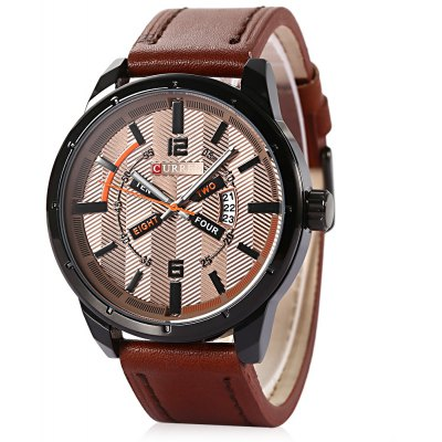 93af73c5b CURREN 8211 Casual Double Scales Men Quartz Watch Recenze a ...