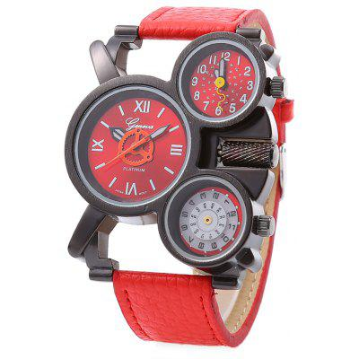 geneva 480 Fashion Double Movement Men Zegarek kwarcowy