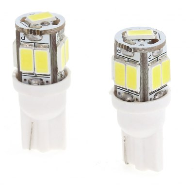 2PCS T10 9 SMD 5630 LED Car Lamp 8W 6000K 100LM