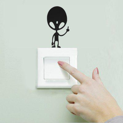 Alien Style Wallpaper Switch Sticker Wall Decoration