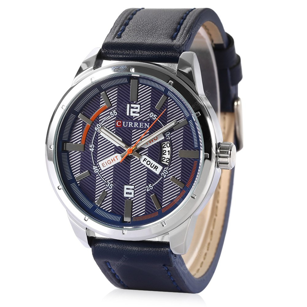 Curren 8211 Casual Double Scales Men Quartz Watch 1478 Free Analog Temperature Controller Relay Shipping