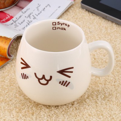 Cartoon Face Mug Ceramic Cup 193398401