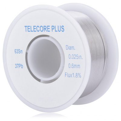 WLXY 0.6mm Diam Tin Lead Melt Rosin Core Solder Wire Reel Flux 1.8 Percent