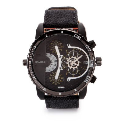 JUBAOLI 1141 Casual Male Quartz WatchMens Watches<br>JUBAOLI 1141 Casual Male Quartz Watch<br><br>Available Color: Black,Blue,Green,Red<br>Band material: Canvas<br>Band size: 26.6 x 2.5<br>Brand: Jubaoli<br>Case material: Alloy<br>Clasp type: Pin buckle<br>Dial size: 5 x 5 x 1.8 cm<br>Display type: Analog<br>Movement type: Quartz watch<br>Package Contents: 1 x JUBAOLI 1141 Casual Men Quartz Watch, 1 x Box<br>Package size (L x W x H): 8.80 x 8.00 x 5.30 cm / 3.46 x 3.15 x 2.09 inches<br>Package weight: 0.145 kg<br>Product size (L x W x H): 26.60 x 5.00 x 1.80 cm / 10.47 x 1.97 x 0.71 inches<br>Product weight: 0.086 kg<br>Shape of the dial: Round<br>Special features: Date<br>Watch style: Fashion<br>Watches categories: Male table<br>Water resistance: Life water resistant<br>Wearable length: 19.4 - 24.4 cm