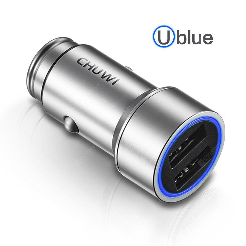 SILVER CHUWI Ublue C 100 Dual USB Smart Car Charger