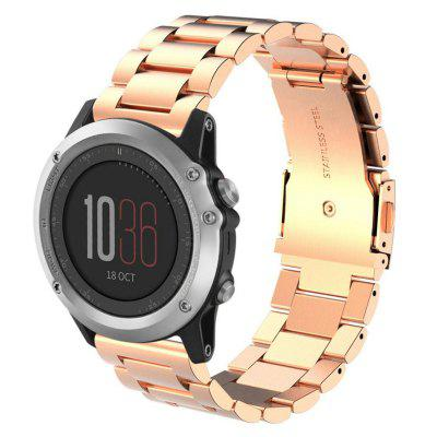 Turtle Type Folding Clasp with Safety Strap for Garmin Fenix 3