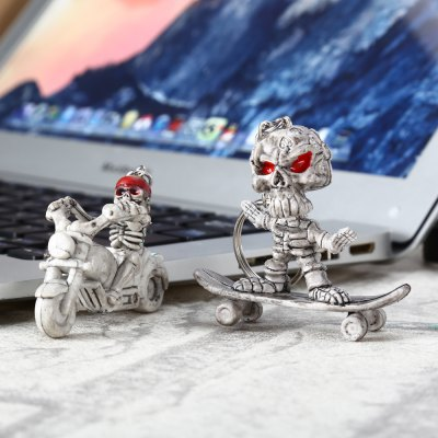 2pcs Creative Skull Shape Key Chain for Amusement