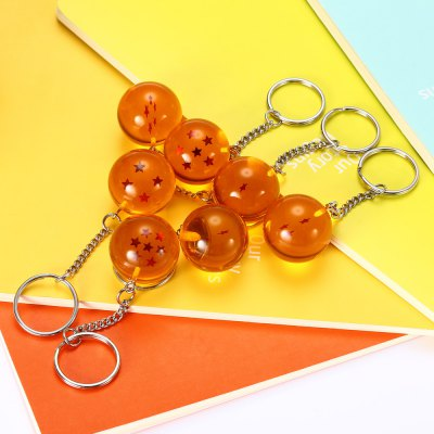 Silicone Star Ball Key Chain Set