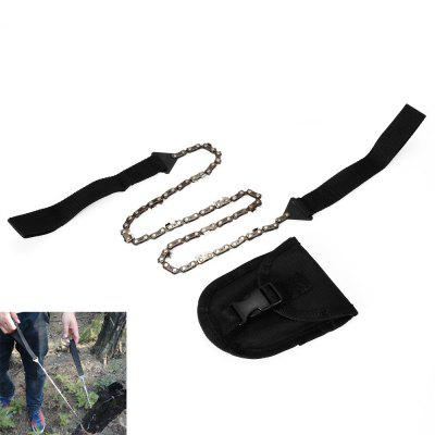 Foldable Hand Chain Saw Pocket Gear for Outdoor Survival