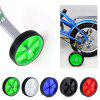 Pair of Universal Training Wheels for 12 inch to 20 inch Kids Bike - GREEN