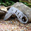 Outdoor Folding Mini Pocket Knife with Bottle Opener Function - SILVER