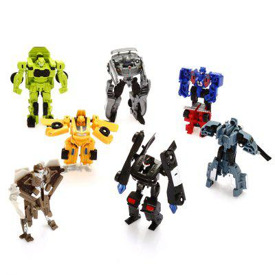 Plastic Robot Action Figure Building Block - 7pcs / set