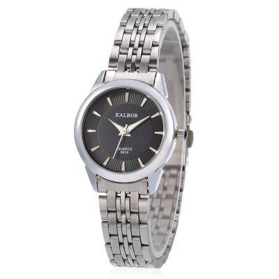 KALBOR 6010 Business Women Nailed Scale Quartz Watch