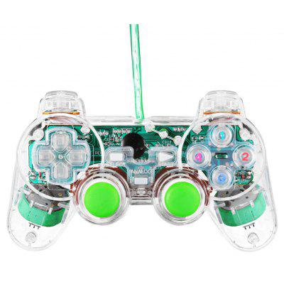 USB Wired Game Controller Gamepad for PC with Double Vibration