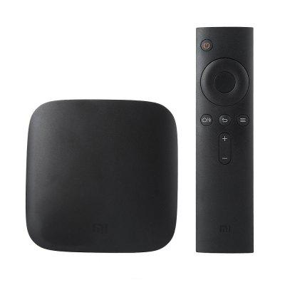 Vente flash-( Official International Version ) Original Xiaomi Mi TV Box  -  EU PLUG  BLACK