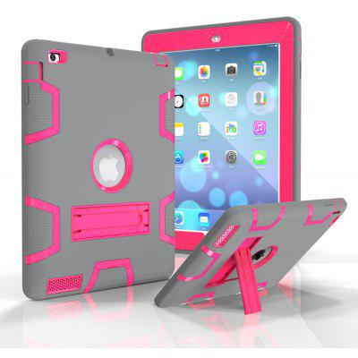 Silicone PC Protective Back Cover Case for iPad 2 / 3 / 4