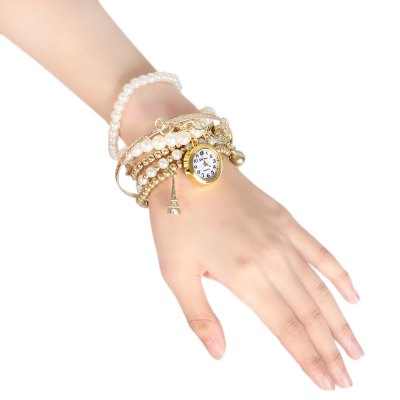 Geneva 478 Lovely Bead Bracelet Lady Quartz Watch
