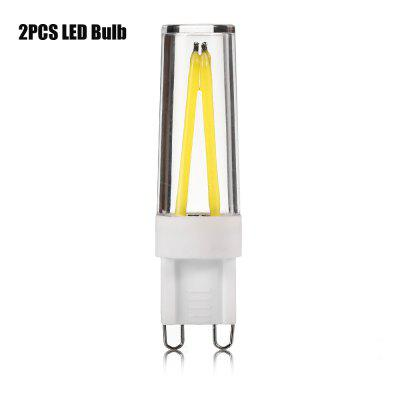 2PCS G9 5W 300 - 450Lm  COB Dimmable LED Filament Bulb