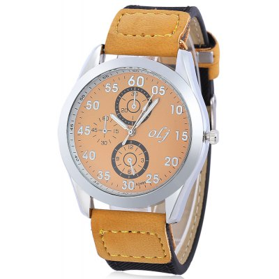 OLJ A2495 Casual Men Decorative Sub-dial Quartz Watch