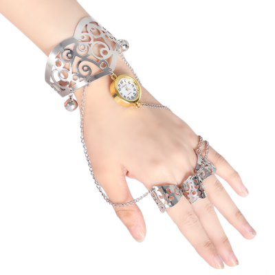 JUBAOLI 1126 Fashion Hollow-out Lady Quartz Watch Bracelet