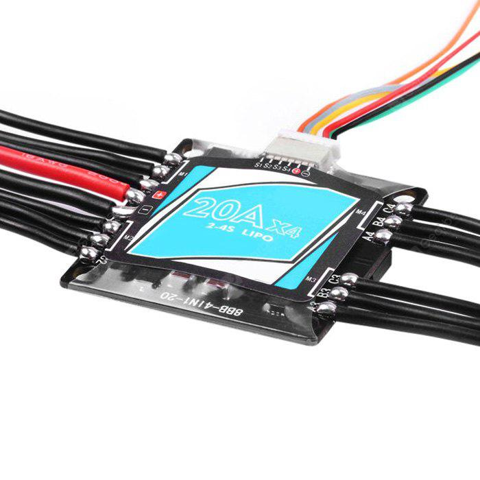 COLORMIX Electric Speed Controller 4 in 1 20A OPTO Brushless ESC