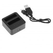 LINGLE Y2 - 18 Dual Battery Charger for YI II Action Camera