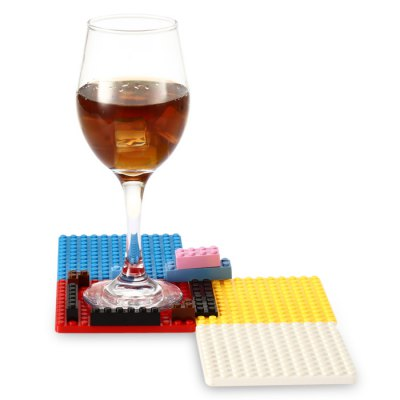 Creative Building Block Style DIY Brick Mat Set
