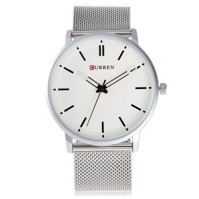 CURREN 8233 Fashion Men Quartz WatchMens Watches<br>CURREN 8233 Fashion Men Quartz Watch<br><br>Band material: Steel<br>Band size: 23.8 x 2.2 cm / 9.37 x 0.87 inches<br>Brand: Curren<br>Case material: Stainless Steel<br>Clasp type: Hook buckle<br>Dial size: 4.2 x 4.2 x 1 cm / 1.65 x 1.65 x 0.39 inches<br>Display type: Analog<br>Movement type: Quartz watch<br>Package Contents: 1 x CURREN 8233 Fashion Men Quartz Watch<br>Package size (L x W x H): 24.80 x 5.20 x 2.00 cm / 9.76 x 2.05 x 0.79 inches<br>Package weight: 0.098 kg<br>Product size (L x W x H): 23.80 x 4.20 x 1.00 cm / 9.37 x 1.65 x 0.39 inches<br>Product weight: 0.064 kg<br>Shape of the dial: Round<br>Watch color: Black, White, Blue, Yellow<br>Watch style: Fashion<br>Watches categories: Male table<br>Water resistance: Life water resistant