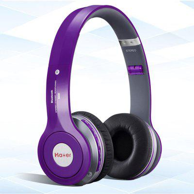 Haoer S450 Bluetooth V4.1 Over-ear Purple Headphones
