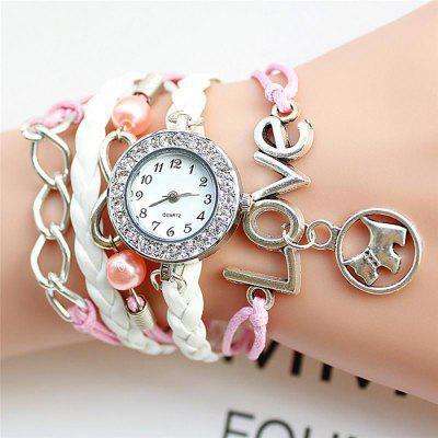 Fashion DIY Woven Bracelet Lady Quartz Watch