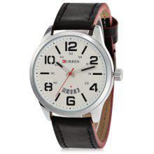 CURREN 8236A Casual Rolling Date Screen Men Quartz Watch