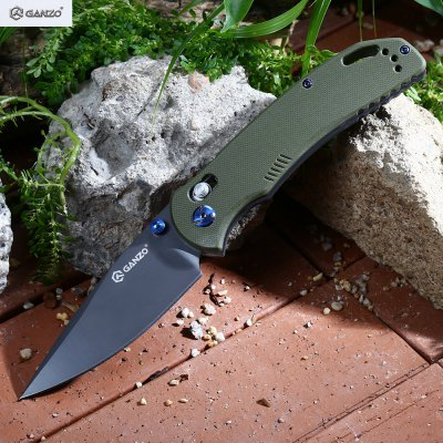Ganzo G7533 - GR Axis Lock Large Pocket Knife with Clip