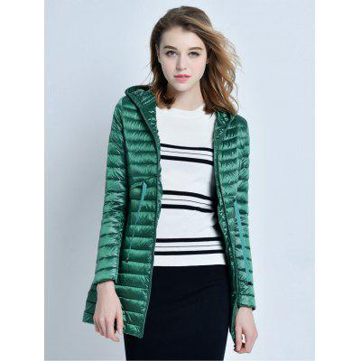 Hooded Middle Down Jacket for Women