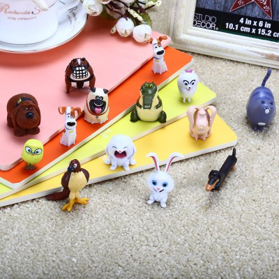 14pcs Cute Animal Character Model