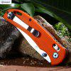 Ganzo G7531 - OR Axis Lock Foldable Knife with G10 Handle - SWEET ORANGE