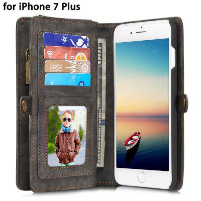 CaseMe PU Leather Wallet Phone Cover Case for iPhone 7 Plus
