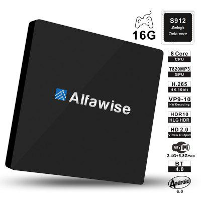 Alfawise S92 Digital TV Box Octa Core Amlogic S912 Android 6.0