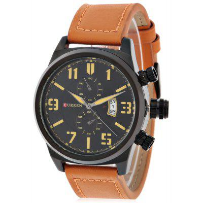 CURREN 8200 Casual Men Rolling Date Screen Quartz Watch