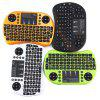 Rii i8+ Multi - function 2.4GHz Wireless Touchpad QWERTY Keyboard for Android Box - BLACK