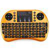 Rii i8+ Multi-function Mini 2.4GHz Wireless Touchpad Keyboard with Built-in Battery for HTPC - ORANGE