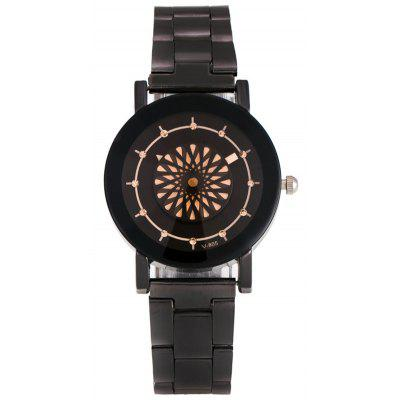 Rhinestone Floral Analog Quartz Watch