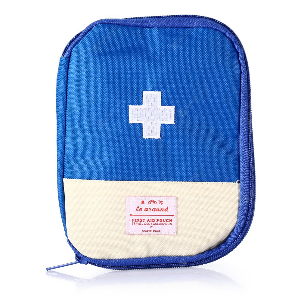 BLUE Portable Water-resistant First Aid Pouch Emergency Bag
