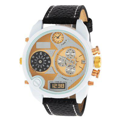 JUBAOLI 1153 Casual White Case Men Quartz Watch