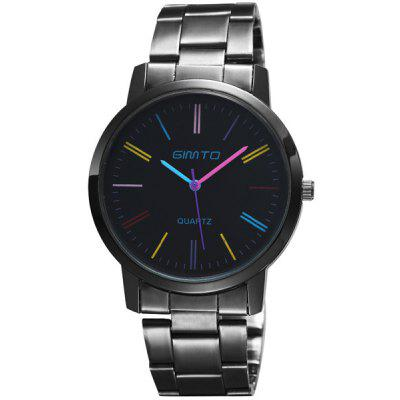 GIMTO Alloy Steel Band Analog Quartz Watch