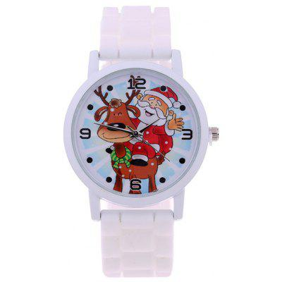 Smile Santa Elk Christmas Quartz Watch
