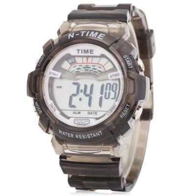 6306 Sports Date Day Display Backlight Alarm Clock Kids Watch