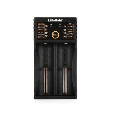 LiitoKala Lii - 202 USB Battery ChargerChargers<br>LiitoKala Lii - 202 USB Battery Charger<br><br>Brand: LiitoKala<br>Charge Control Methods: CC (Constant-current),CV (Constant-voltage)<br>Charging Cell Qty: 2<br>Charging Cell Type: NiCd, Ni-MH, Lithium Ion<br>Circuit Detection: Yes<br>Compatible: 26500, 26650, A, AA, AAA, SC, 22650, 18650, 18490, 17670, 17500, 17355, 16340, 14500, 10440<br>Fast Charging Function: Yes<br>Indicator: The light will stop blinking after fully charged<br>Input Voltage: DC 5V<br>Model: Lii-202<br>Over Charging Protection: Yes<br>Over Discharging Protection: Yes<br>Package Contents: 1 x LiitoKala Lii-202 Battery Charger, 1 x USB Cable, 1 x English Manual<br>Package size (L x W x H): 22.00 x 11.00 x 4.00 cm / 8.66 x 4.33 x 1.57 inches<br>Package weight: 0.1270 kg<br>Plug: USB<br>Product size (L x W x H): 11.20 x 6.00 x 3.00 cm / 4.41 x 2.36 x 1.18 inches<br>Product weight: 0.0860 kg<br>Protected Circuit: Yes<br>Short Circuit Protection: Yes<br>Type: Charger